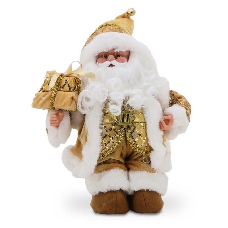 National Tree Company Musical Santa in Gold Jacket Gold - TP-S151401MG
