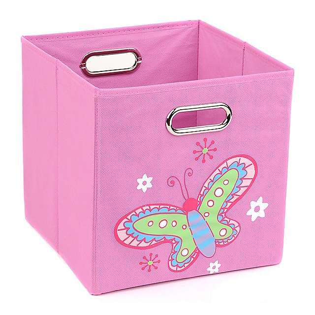 Pink Storage Bin with Butterfly | Kirklands