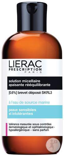 Lierac Prescription Solution Micellaire Διάλυμα καταπραϋντικό και εξισορροπητικό Αφαιρεί το μακιγιάζ, καταπραϋνει από την αίσθηση ερεθισμών με σεβασμό στην ισορροπία της επιδερμίδας. Δεν χρειάζεσαι νερό, μόνο Lierac Prescription