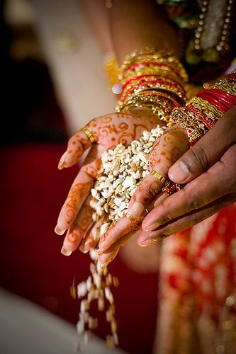 Hand in Hand - Indian Wedding Ritual #JADEbyMK #weddings #india: