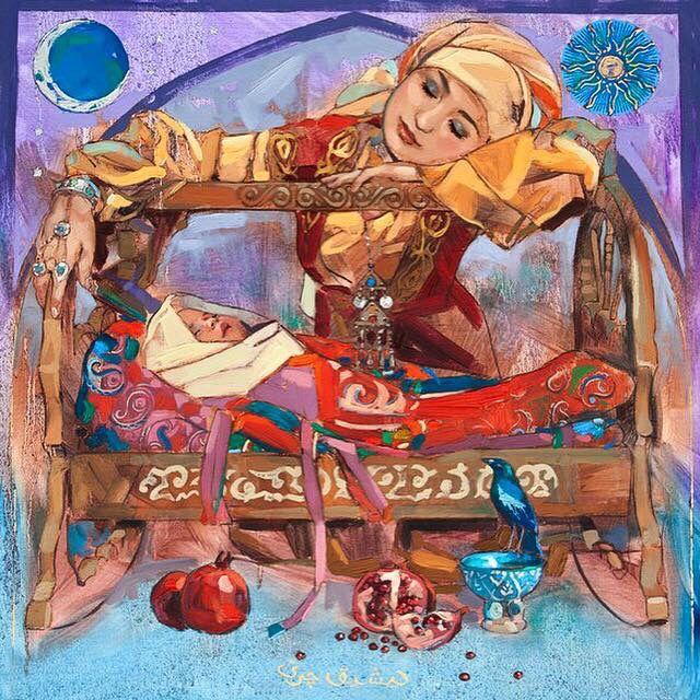 """Kazakh painter Nurlan Kilibayev. """"550 years of Kazakh khanate"""""""