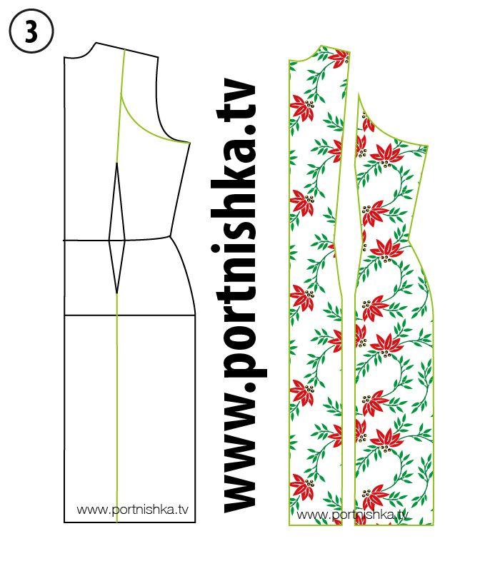 Выкройка простого платья по фигуре