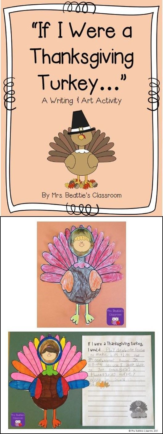 "Looking for a fun classroom activity for Thanksgiving? Look no further! This cute writing and art resource contains a persuasive writing lesson, graphic organizers, art template and writing paper to put your students ""in the Thanksgiving turkey's shoes""! They'll love it!"