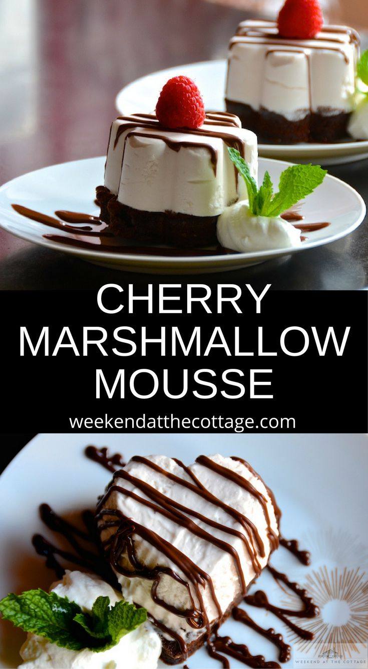 Perfect for Valentine's Day and special celebrations, this CHERRY MARSHMALLOW MOUSSE WITH CHOCOLATE is all about taste and presentation – you're going to LOVE it! #mousse #valentinesday #dessertrecipes #chocolatecake