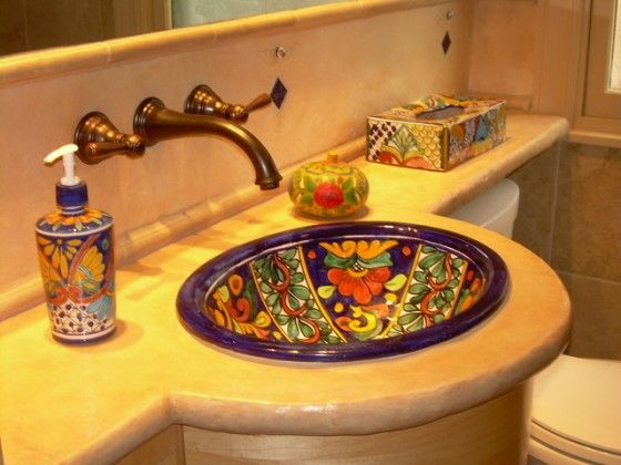 Decoracion rustica mexicana for Mexican themed bathroom ideas