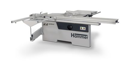 """K4 perform The new Hammer K4 panel saw is the """"entry level"""" model from the series of panel saws from Felder. The heavy duty K4 offers maximum performance at a minimum price. #woodworking #woodworkingmachines #hammer #felder #feldergroup #sliding table saw #formatkreissäge"""