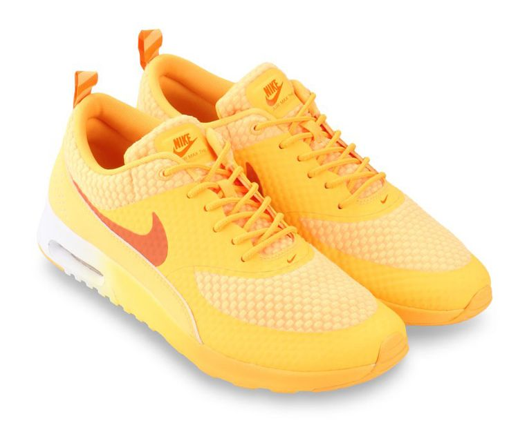 #Nike airmax Thea prm Orange. Sleek silhouette, lightweight hyper fuse. With yellow