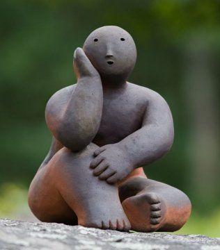 Joy Brown: sitter with head in hand #2  ♥ Inspirations, Idées & Suggestions, JesuisauJardin.fr, Atelier de paysage Paris, Stéphane Vimond Créateur de jardins ♥