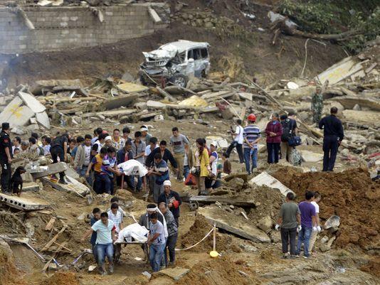 08/29/2014 - Rescuers seek survivors of China landslide.