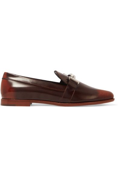 Tod's - Burnished Leather Loafers - Brown - IT39.5