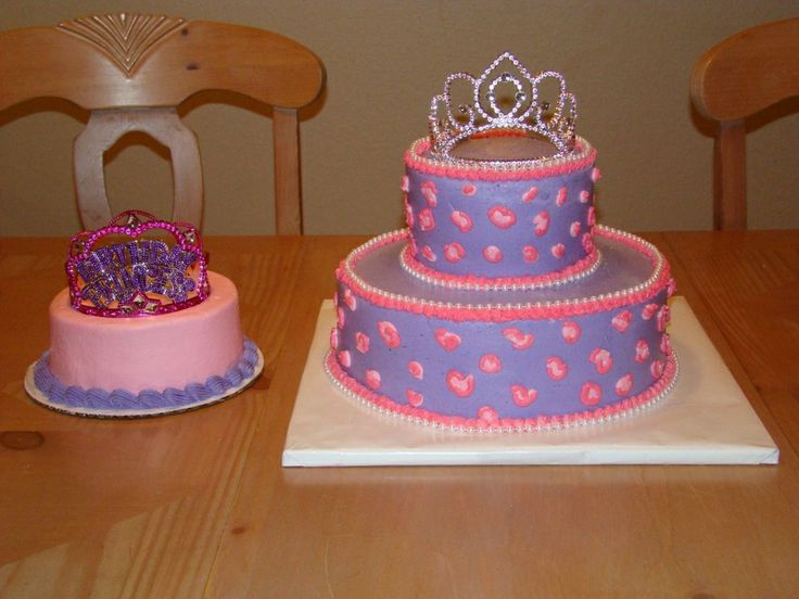Purple Cakes | - Purple with pink cheetah spots. Added cheetah spots to smash cake ...