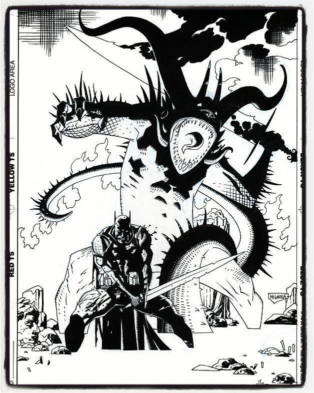 Legends of the Dark Knight Annual cover by Mike Mignola. #thecosmiccomicbookbroadcast #dccomics #batman #legendsofthedarkknight #mikemignola