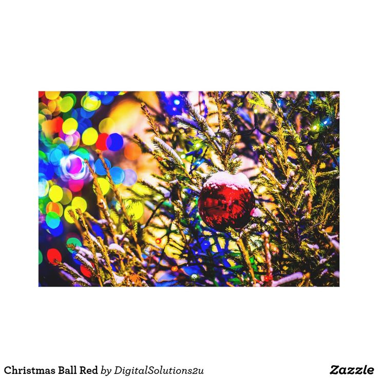 Christmas Ball Red Canvas Print