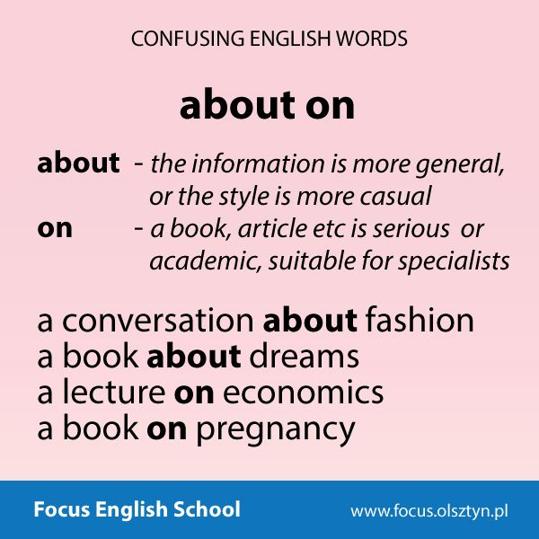 The confusing English words: about, on