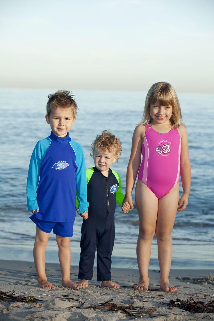 Chlorine resistent kids swimwear