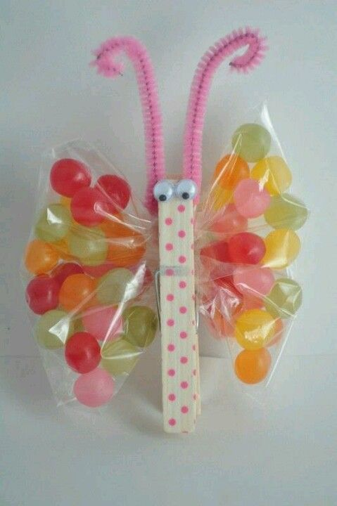 Butterfly craft - these would be great party bags.