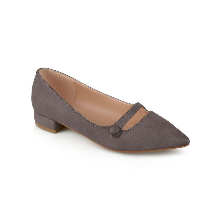 Journee Collection Vasha Women's Pointed Dress Shoes, Teens, Size: 8.5, Beig/Green (Beig/Khaki)