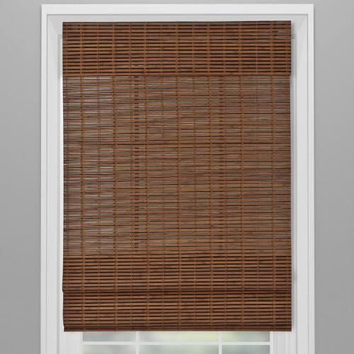One of my favorite discoveries at ChristmasTreeShops.com: Espresso Cordless Roman Window Shade