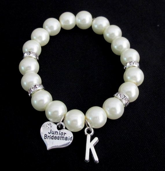 Junior Bridesmaid Bracelet Pearl Bracelet by fashionjewelryforeve