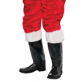Add these Santa boot covers over your boots along with a Santa costume./Wally's Party Factory #santa #boot #covers