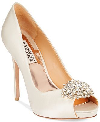 Badgley Mischka Jeannie Peep-Toe Pumps - Evening & Bridal - Shoes - Macy's