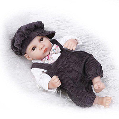 Nicery Reborn Bambino Bambola disco di simulazione del silicone vinile 10 pollici 26 centimetri vasca impermeabile giocattolo del bambino Presente ragazzo sveglio con gli occhi acrilico Regalo di Natale Reborn Doll