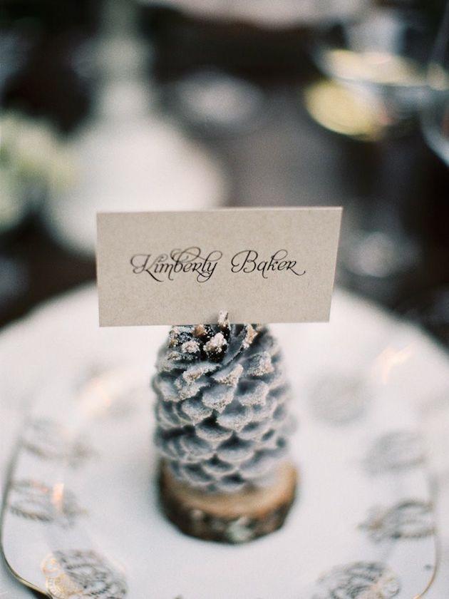 silver heart wedding place card holders%0A    Fabulous Winter Wedding Ideas