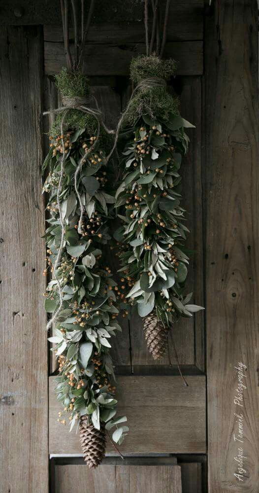 Beautiful alternative to a door wreath!