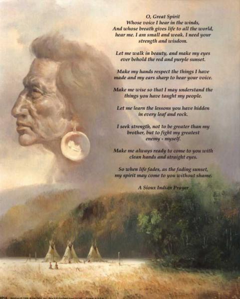 A Sioux Indian Prayer