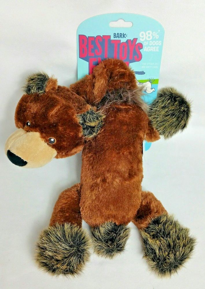 Best Toys Ever Bruce The Bungee Bear Squeaker Dog Toy By Bark