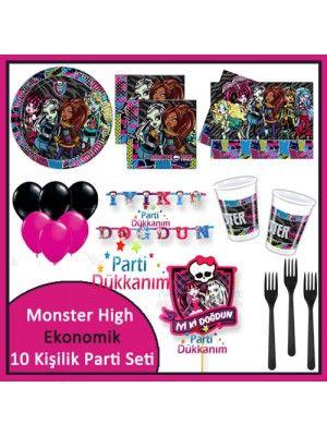 Monster High Ekonomik Parti Seti (10 Kişilik)