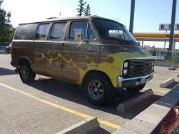 Dodge van with some custom parts