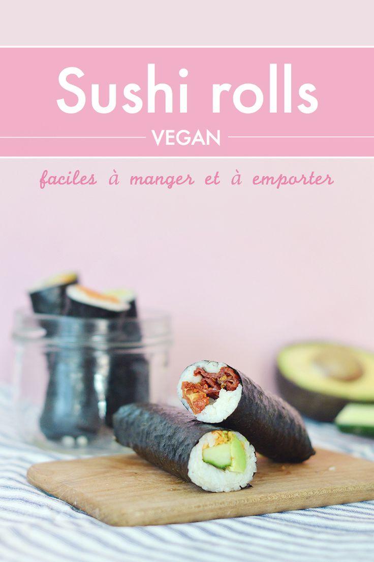 un sushi à manger comme un sandwich, avec les doigts ! En version végane, pour emmener au boulot :)