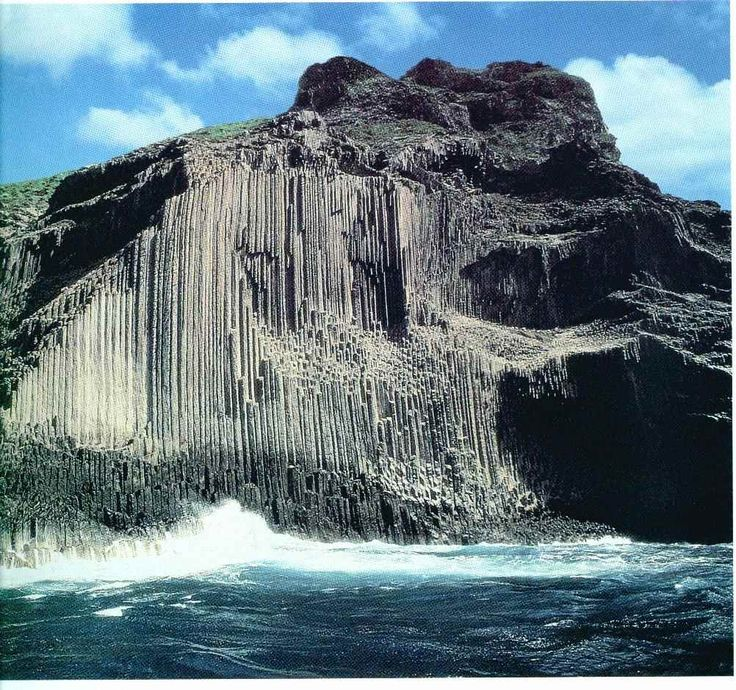 """Los Órganos""(La Gomera, Canary Islands) Basalt columns (phonolite ) up a steep wall reaching eighty meters. Carved by erosion, the rocks seem pipes of a cathedral organ. Only you can see from the sea."