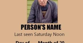 Download Free Missing Person Poster Template