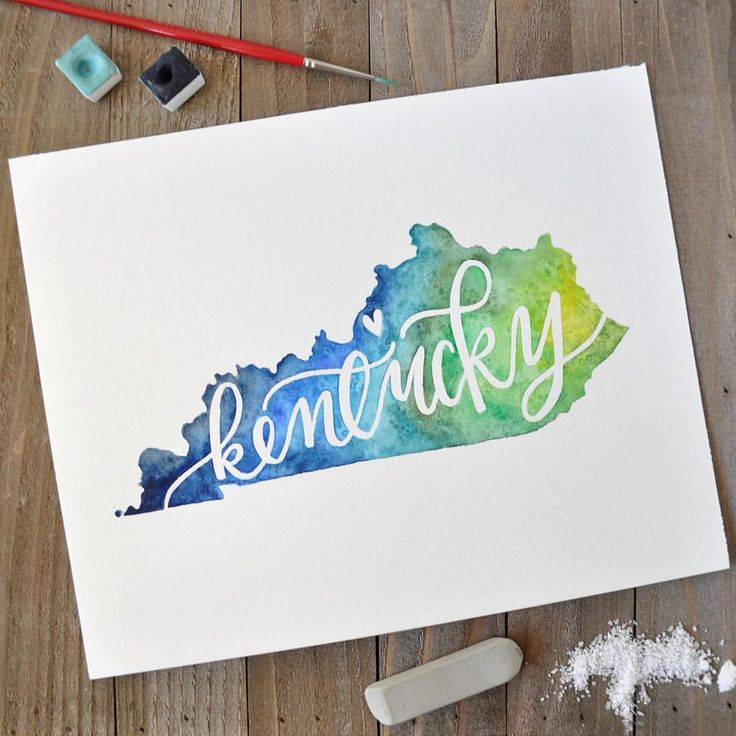 Beautiful watercolor and hand lettering with motlow masking fluid pen