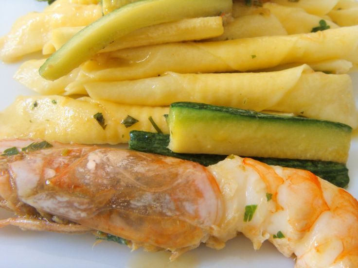 Garganelli with Zucchini and Shrimp
