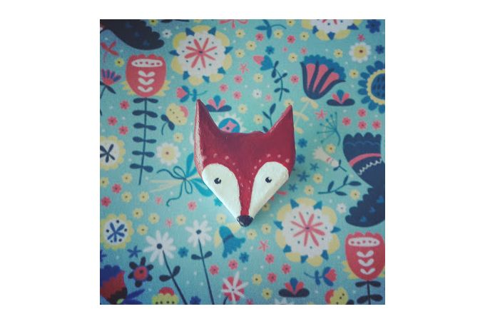 Fox brooch by Sam Bear Things