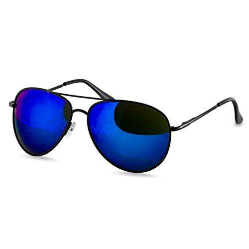 Immerschön Sonnenbrille - pink metallic - Wayfarer Retro Bluesbrothers 80's Nerd Unisex 12AuxEKd