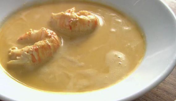 Rick Stein's langoustine soup on Rick Stein's Long Weekends - Sharingboost