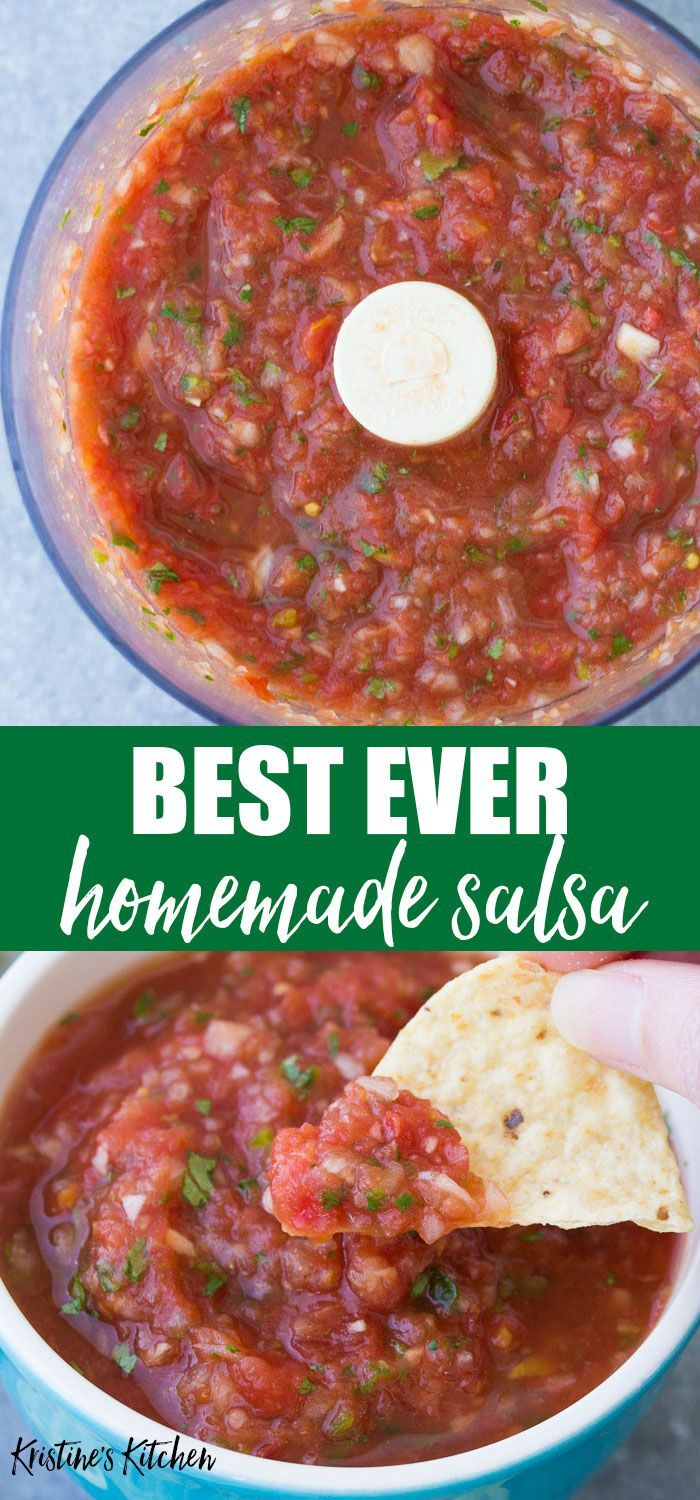 This is the BEST Homemade Salsa Recipe! So quick a…