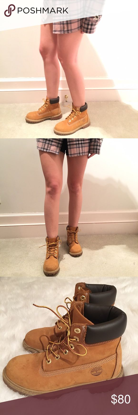 Classic 6-inch Timberland Nubuck Boots Gently Worn. Classic 6-inch Timbs. Original Nubuck color. Size Women's 7. Men's 5. Very durable, warm and comfortable. Price negotiable. Timberland Shoes Combat & Moto Boots