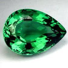 turmalina verde ovalo