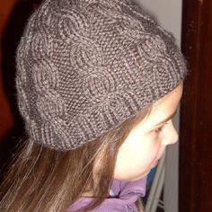 Bonnet enfant (fille ou garçon) coloris loutre laine sport phildar