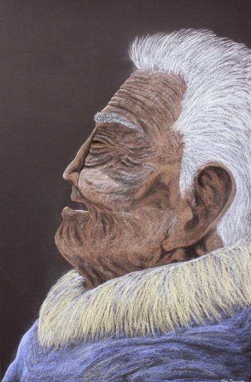Tim Pitsiulak - Untitled 44 x 30 Coloured pencil on paper (186-0578)