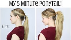 Beauty Hack-5 Minute Ponytail Trick to Volume Up Your Hair