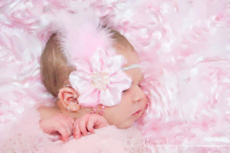 Newborn Photography Baby Photography Newborn Artwork Newborn Painting Newborn Headband