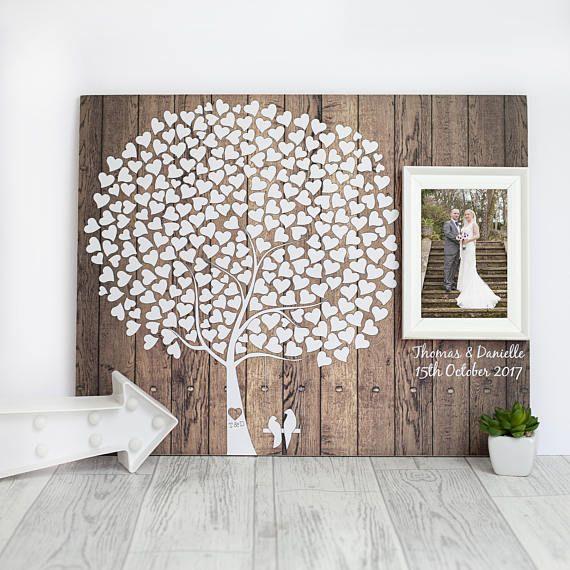Extra Large Oak Thumbprint Guest Book Tree 26x20 Customized: 25+ Beste Ideeën Over Bruiloft Gast Boom Op Pinterest