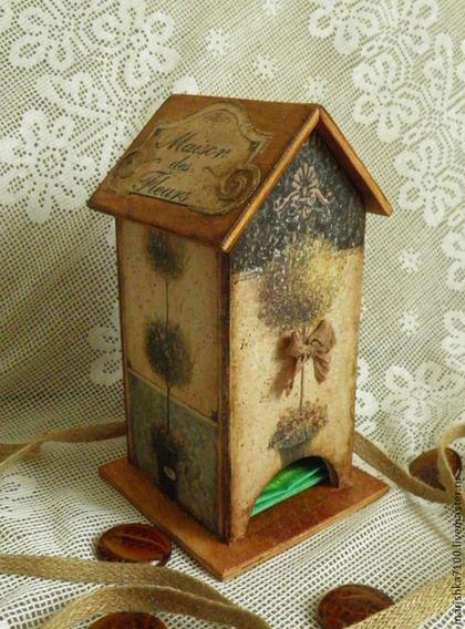 """Кухня ручной работы. Ярмарка Мастеров - ручная работа. Купить Чайный домик """"Прованс"""". Handmade. Коричневый, чайный домик"""