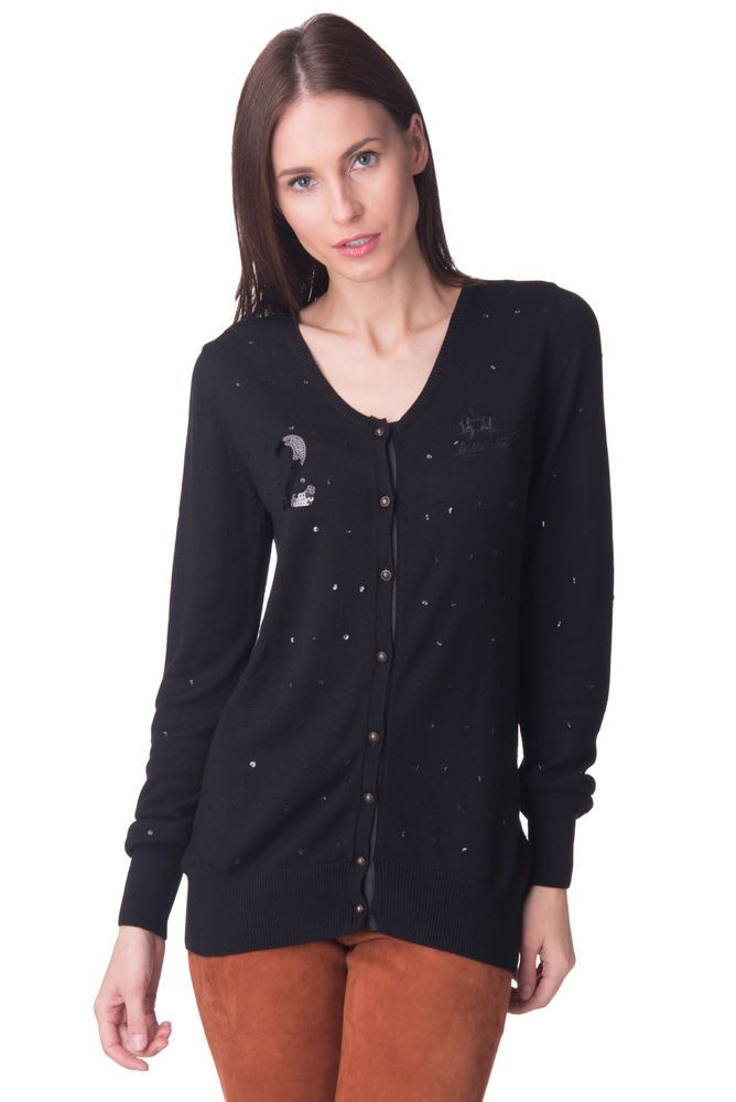 LA MARTINA Cardigan Size 4   L Wool Blend Sequins Embellished Y Neck RRP  170  fashion  clothing  shoes  accessories  womensclothing  sweaters (ebay  link) 64e542f11